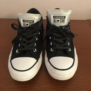 Converse All Star low tops - black and silver
